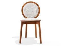 Sedia in teak con rivestimento in cotoneTRANQUEBAR | Sedia in teak - CALYAH