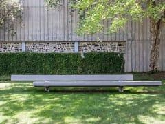 Panchina in calcestruzzo con schienaleTRAPECIO | Panchina in calcestruzzo - URBIDERMIS