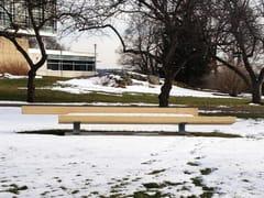 Panchina in legno lamellare con schienaleTRAPECIO | Panchina in legno lamellare - URBIDERMIS