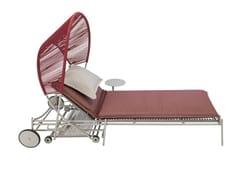 Lettino da giardino pieghevole reclinabile in alluminio con ruoteTRAVELER   Lettino da giardino - ROCHE BOBOIS