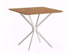 Tavolo da giardino pieghevole quadrato TRAVERSE -
