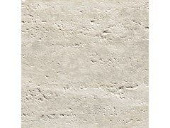 Pavimento/rivestimento in gres porcellanato TRAVERTINO ROMANO SCANALATO SILVER - CERAMICHE COEM