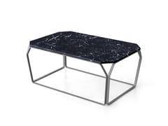 Tavolino da caffè rettangolare in marmo per contract TRAY 3 | Tavolino in marmo - Tray