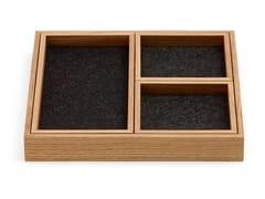Vassoio quadrato in legno Vassoio -