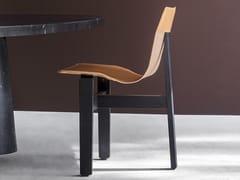 Sedia con struttura in rovere e seduta in cuoioTRE3 - AGAPECASA