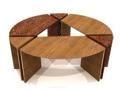 LAB23, ALCORQUE CIRCULAR Griglia per alberi / seduta da esterni in acciaio e legno