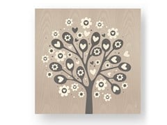 Quadro in legno intarsiato TREE OF HEARTS COLD - DOLCEVITA LOVE