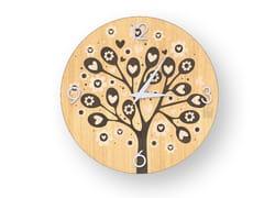 Orologio da parete in legno intarsiato TREE OF HEARTS WARM | Orologio - DOLCEVITA LOVE