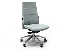 Sedia ufficio ad altezza regolabile in pelle a 5 razze con ruoteTRENDY FIRST CLASS   Sedia ufficio - FANTONI