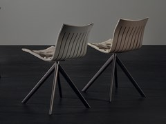 Sedia su trespolo in alluminio e pelleAIRY 2016 | Sedia su trespolo - ACERBIS BY MDF ITALIA