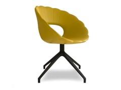 Sedia in schiuma integrale con base conica in metalloFLOWER | Sedia su trespolo - TONON