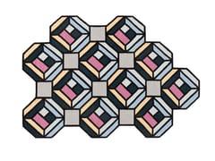 Tappeto in lana a motivi geometrici TETRAGON - Kilim