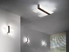 Lampada da parete / lampada da soffitto in vetro serigrafatoTRIAD - LINEA LIGHT GROUP