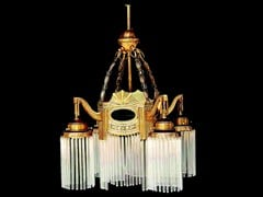 Lampada a sospensione a luce diretta fatta a mano in ottone TRIEST III | Lampada a sospensione - Triest