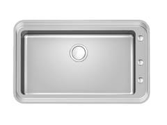 Lavello filo top in acciaio inoxTRIPLO INV.V71X40 FT 2020 - FOSTER