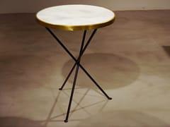 Tavolo rotondo con top in marmo e struttura in acciaioTRIPODE   Tavolo in marmo - DADRA