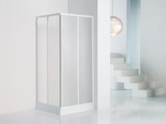 NOVELLINI, TRIS A Box doccia angolare con porta scorrevole