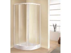 NOVELLINI, TRIS R Box doccia angolare semicircolare con porta scorrevole