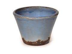 Vaso da giardino basso fatto a mano in terracottaTRONCO CONICO PERVICA - PAOLELLI GARDEN