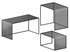Tavolino rettangolare in rete stirataTRISTANO | Tavolino - ZEUS