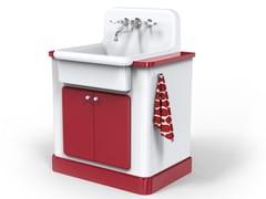 Modulo cucina freestanding in ceramica per lavelloTRUE COLORS KITCHEN 60 | Modulo cucina freestanding - BLEU PROVENCE