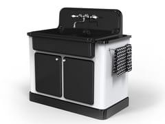 Modulo cucina freestanding in ceramica per lavelloTRUE COLORS KITCHEN 90 | Modulo cucina freestanding - BLEU PROVENCE
