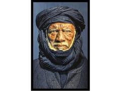 Quadro in poliestereTUAREG MAN, BLUE - MONDIART INTERNATIONAL