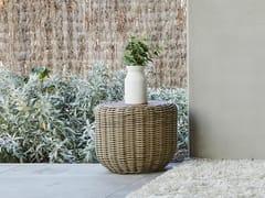 Tavolino basso da giardino rotondo in viminiTUGU | Tavolino da caffè - JARDINICO