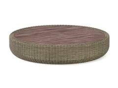 Tavolino basso da giardino rotondo in viminiTUGU | Tavolino basso - JARDINICO