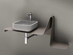Consolle lavabo singolo sospeso in metallo TULIP | Consolle lavabo sospeso - Tulip