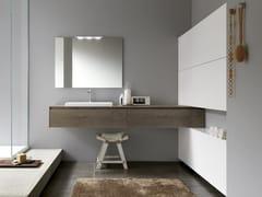 Mobile lavabo singolo sospeso in legnoTULLE 16 - ARCHEDA