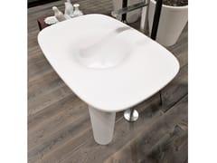 Lavabo freestanding in Cristalplant®TUNNEL - ANTONIO LUPI DESIGN®