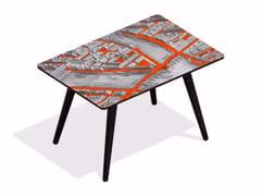 Tavolino rettangolare in HPL e faggio TURGOT PONT NEUF L VERMILLON | Tavolino rettangolare - Paris - Paris