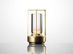 Lampada da tavolo a LED senza fili con ricarica USBTURN+ BRASS - AMBIENTEC CORPORATION