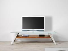 MOBILE TV BASSO IN ACCIAIO INOX E VETRONORDIC | MOBILE TV - ALTINOX MINIMAL DESIGN