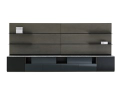 Mobile TV componibile laccato in legno con libreriaRHYTHM | Mobile TV - FARGO HONGFENG INDUSTRIAL