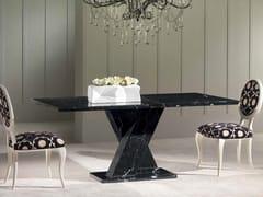 Tavolo rettangolare in marmo Nero Marquina TWID | Tavolo - Classic