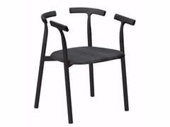 Sedia in alluminio e legno con braccioliTWIG 4 - 10C - ALIAS
