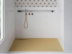 Piatto doccia rettangolare in materiale compositoTWINS | Piatto doccia filo pavimento - ABSARA INDUSTRIAL