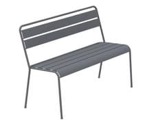 Panca da giardino impilabile in metallo con schienaleTWIST | Panca da giardino - VERMOBIL