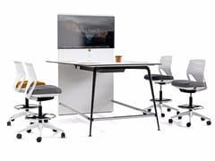 Tavolo da riunione multimediale con sistema passacaviTWIST | Tavolo da riunione multimediale - ACTIU