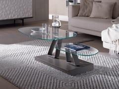 Tavolino basso in cristallo TWIST SASSO | Tavolino in cristallo -