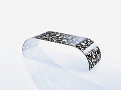 Tavolino basso rettangolare in cristallo TWIST SETT'ANTA BLACK -