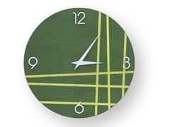 Orologio da parete in legno intarsiatoTWO COLORS | Orologio - LEONARDO TRADE