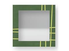 Specchio quadrato da parete con cornice TWO COLORS | Specchio - DOLCEVITA LINES