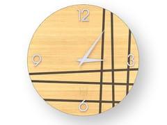 Orologio da parete in legno intarsiato TWO WARM | Orologio - DOLCEVITA LINES