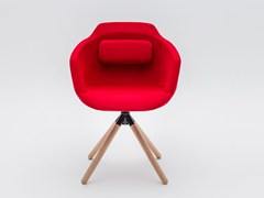 Sedia girevole su trespolo in tessuto con braccioli ULTRA P9 | Sedia con braccioli - Ultra