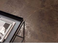 Pavimento/rivestimento in gres porcellanato effetto metallo ULTRA METAL - BROWN ZINC - ULTRA METAL