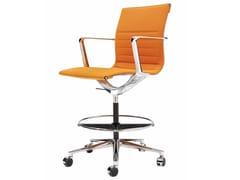 Sedia ufficio operativa girevole in tessuto a 5 razze con ruote UNA CHAIR MANAGMENT | Sedia ufficio operativa con ruote - Una Chair
