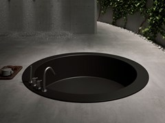 Vasca da bagno rotonda in Corian® da incassoUNICO ROTONDA MAXI | Vasca da bagno da incasso - REXA DESIGN